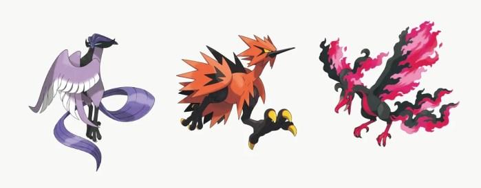 Pokémon Sword and Shield aves lendárias de Galar