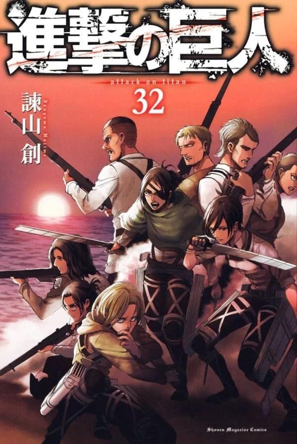 Attack on Titan | Arte da capa do volume 32 é revelada