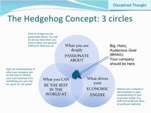 Jim Collins: Good to Great. Hedgehog concept