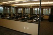 Where once there were bookshelves, now there is a computer lab.