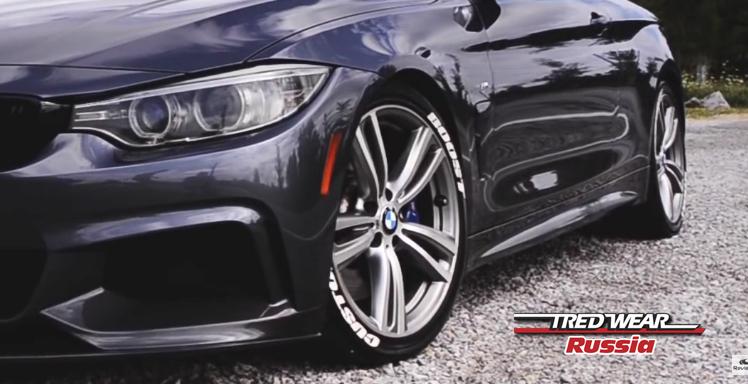 BMW 435i by Boostcustoms с наклейками на шины