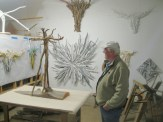 Jim in his studio.