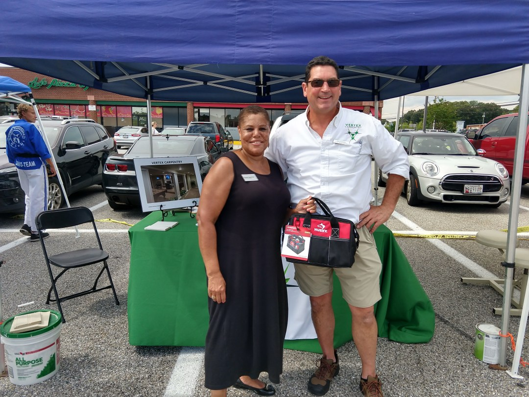 Pam Spearman with Jim Fernen at Shop Local