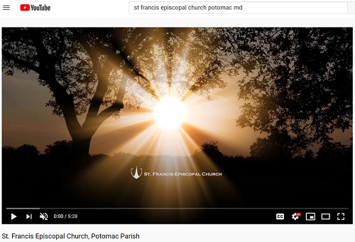 St Francis YouTube Screen Capture