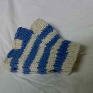 65a978b9d7747 Fair Trade Himalayan 100% Wool Blue White Fingerless Gloves