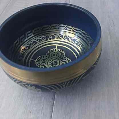 Blue Tibetan singing bowl