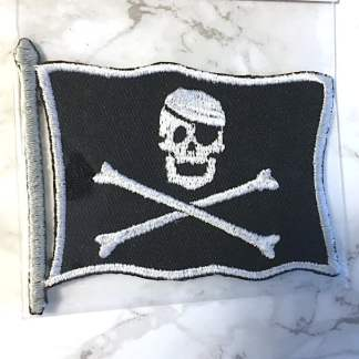 Embroidered Iron On Patch - Pirate Flag