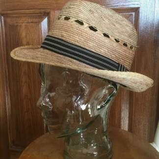 straw fedora sun hat