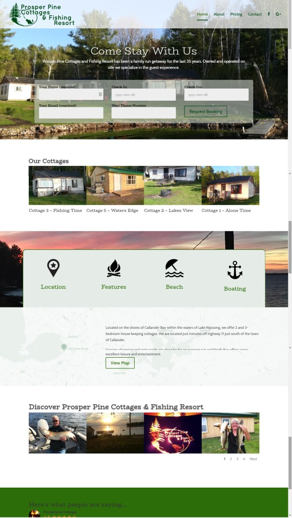 Booking Request Cottage Rental Website