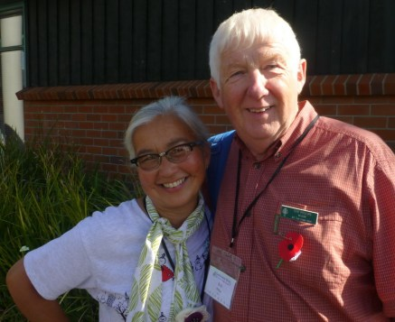 Heather Douglas of Franklin branch and President Bob Phillips