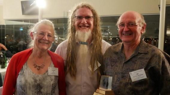 Don McKenzie Award recipients Bill and Elizabeth Rae with President David Whyte