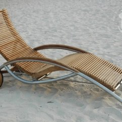 Wooden Frame Beach Chairs Pull Out Contemporary Chair Series In Teak Wood And Aluminum