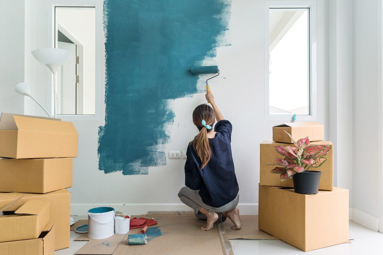 Una soluzione che esalta gli elementi architettonici grandi e piccoli: Come Dipingere Una Stanza Controlla Top Colors E Idee Di Pittura 2021