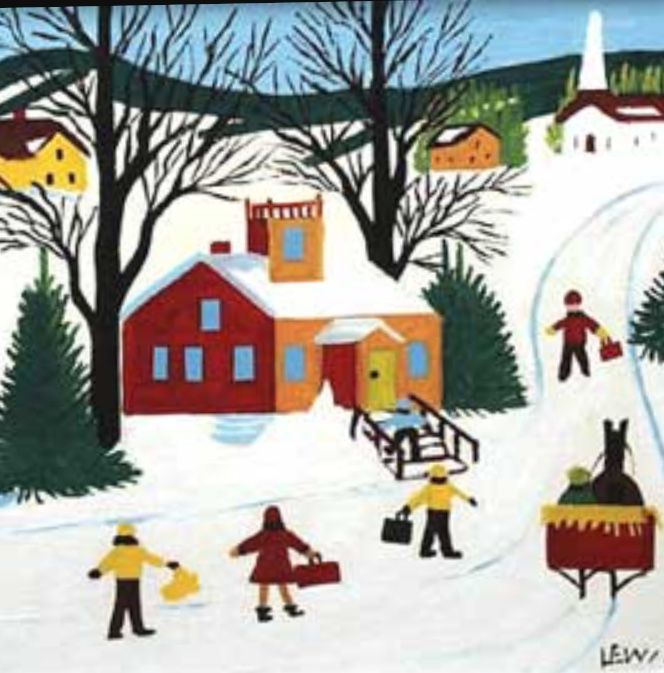 Maud Lewis was a Canadian folk artist. Self taught, just like Frida, she created her own folk version of Canadian landscapes. The children will learn about the peculiarities of folk art.