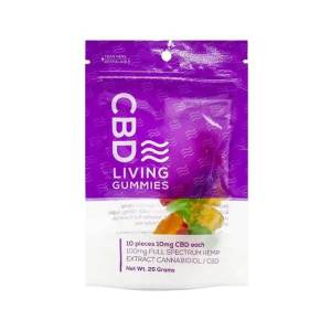 CBD LIVING 100MG CBD INFUSED GUMMY