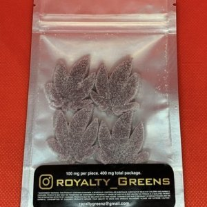 ROYALTY GREENS Gummies – Grape 400mg