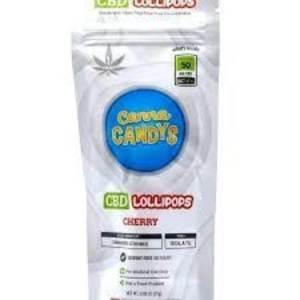 CANNA CANDY CHERRY 50MG CBD MEDICATED LOLLIPOP