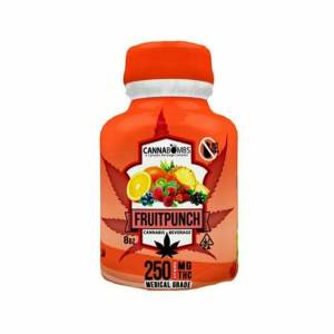 CANNABOMB FRUIT PUNCH 250MG CANNABIS INFUSED SOFT DRINKS