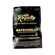 ROYALTY GREENS Sour Apple Royalty Ranchers Shatter Infused 400mg
