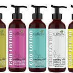 """New"" Kurativ 500mg CBD soothing relief! Available in 5 scents in 4oz pump bottles!"