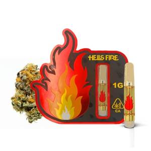 HELLS FIRE SKYWALKER OG INDICA 1 GRAM CANNABIS INFUSED CARTRIDGE