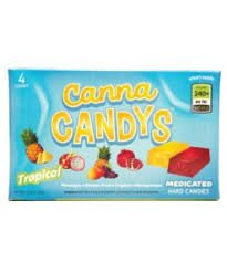 Canna Candys – Tropical Hard Candy 4 Pack, 240mg/Box