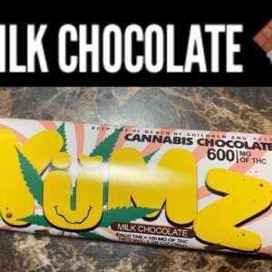 Yumz Brand Milk Chocolate bar (600mg)