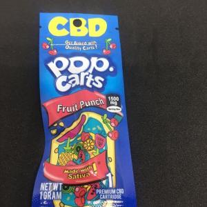 POP CARTS FRUIT PUNCH SATIVA 1500MG PREMIUM 1 GRAM CBD CARTRIDGE