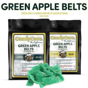 CANDY CARE 400MG INDICA GREEN APPLE BELTS
