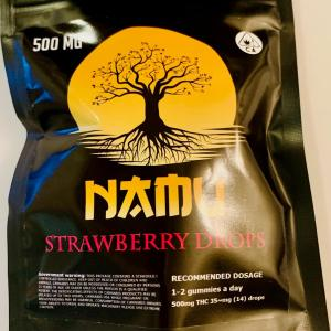 NAMU 500MG CANNABIS INFUSED MINI STRAWBERRY RINGS