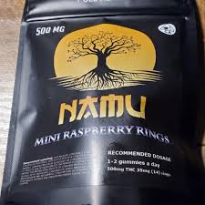 NAMU 500MG MINI RASPBERRY RINGS