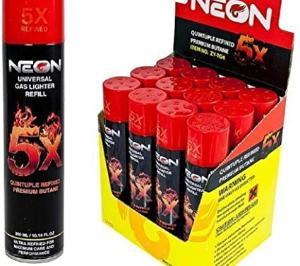 NEON 5X ULTRA REFINED BUTANE FUEL LIGHTER REFILL GAS
