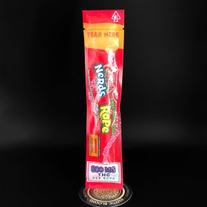CANNA NERDS 800MG RED STRAWBERRY SWEET AND SOUR ROPE