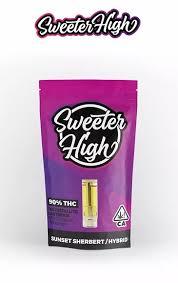 SWEETER HIGH HYBRID SUNSET SHERBERT FULL GRAM 90% THC CARTRIDGE