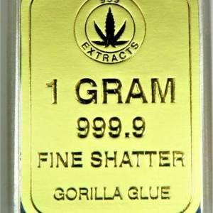 999 EXTRACTS HYBRID 1 GRAM GORILLA GLUE FINE SHATTER
