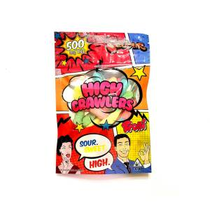 DEVOUR HIGH CRAWLER SOUR SWEET 500MG CANNABIS INFUSED GUMMIES