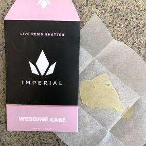 IMPERIAL EXTRACTS | WEDDING CAKE LIVE RESIN |1 GRAM NUG RUN SHATTER