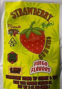 FUEGO FLAVORS 1000MG STRAWBERRY W/ CHAMOY & TAJIN PICANTE CANNABIS INFUSED STRIPS