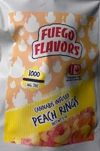 FUEGO FLAVORS 1000MG PEACH CANNABIS INFUSED RINGS