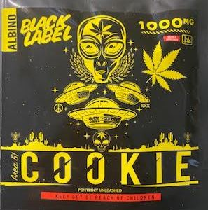 BLACK LABEL ALBINO 1,000 MG THC AREA 51 COOKIE CAUTION: VERY STRONG! NEW!