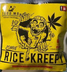 BLACK LABEL ZOMBIE 1,000 MG THC RICE KREEPY CAUTION: VERY STRONG! NEW!
