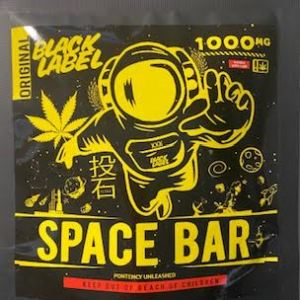 BLACK LABEL ORIGINAL 1,000 MG THC SPACE BAR BROWNIE CAUTION: VERY STRONG! NEW!