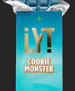 LYT COOKIE MONSTER COOKIES & CREAM 500MG THC 100% ORGANIC ALL NATURAL PREMIUM BELGIAN CHOCOLATE BAR