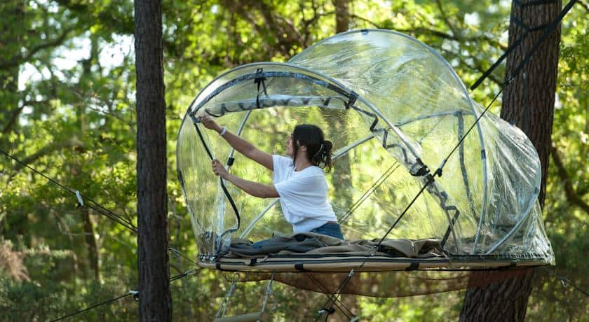 Treehouse map & Tree house hotel in France: Bubble tents - Treehouse map