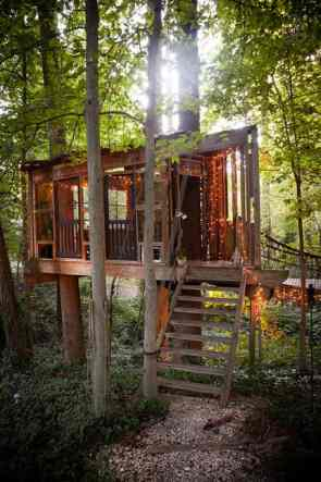 Treehouse in the US - airbnb treehouse in Atlanta-019