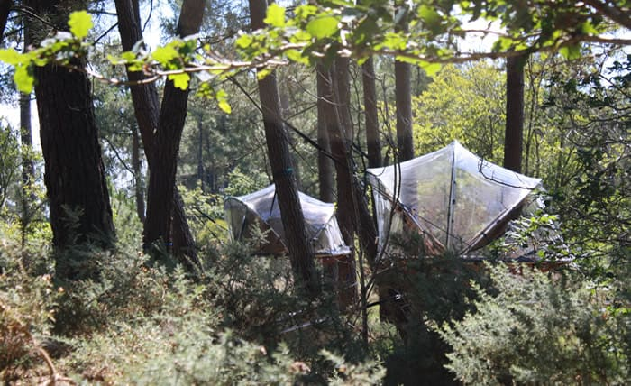 Tree House Hotel In France Bubble Tents Treehouse Map