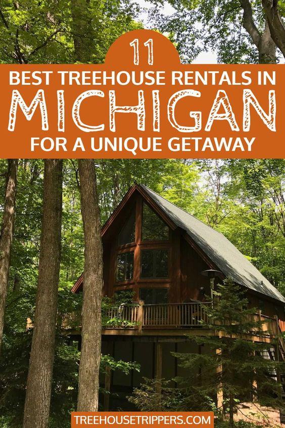 tree house rentals in michigan pinterest