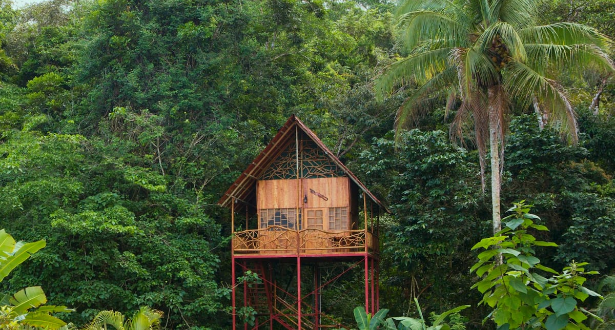 Costa Rica Rainforest Tree House with Hot Springs