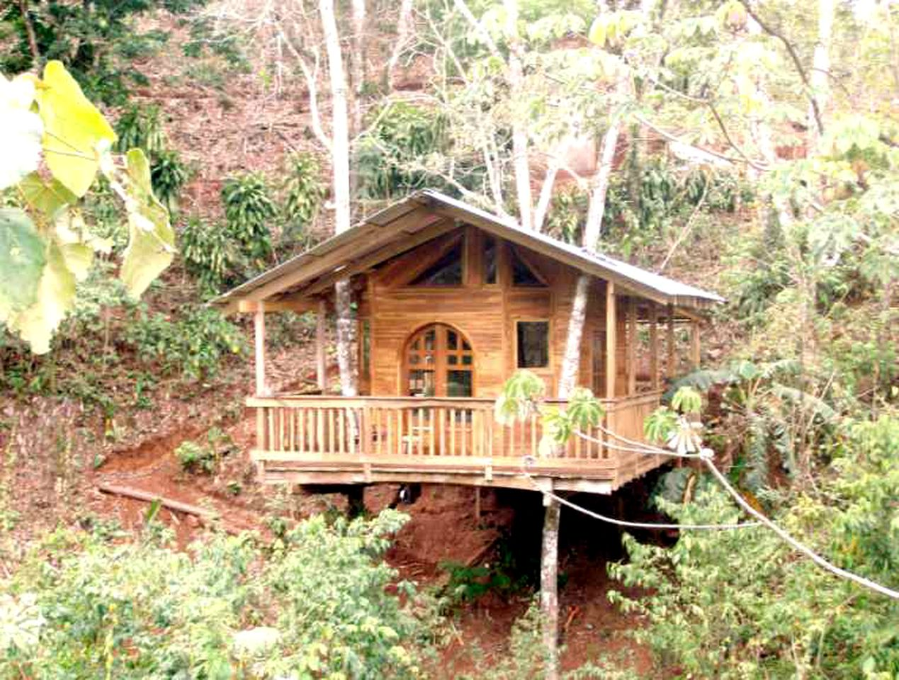 Forested Tree House on Permaculture Farm near Coyote Beach, Costa Rica