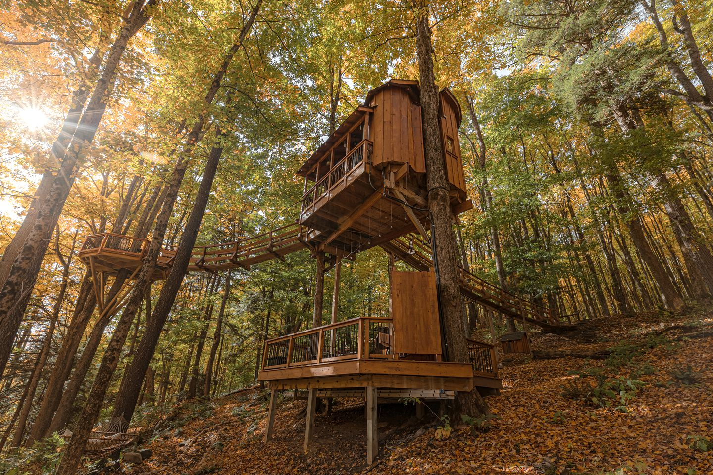 Magical Tree House Rental in the Woods near Syracuse for Glamping in New York State